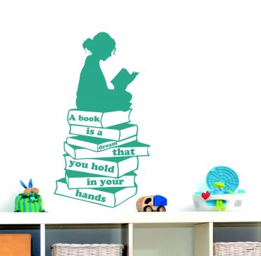 Reading Corner Quote '' A Book is a Dream''-Teal
