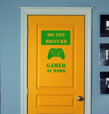 Do Not Disturb Gamer At Work Sign