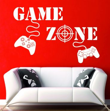 Game Zone Gaming Boys Girls Kids Gamer-Medium-White