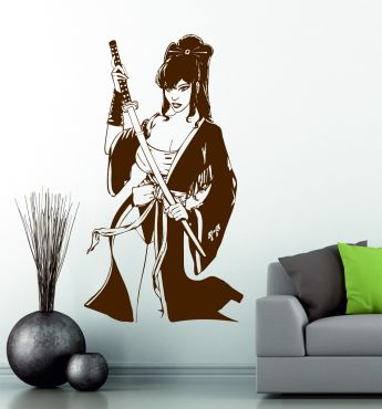 Geisha Katana Swords Japanese Manga