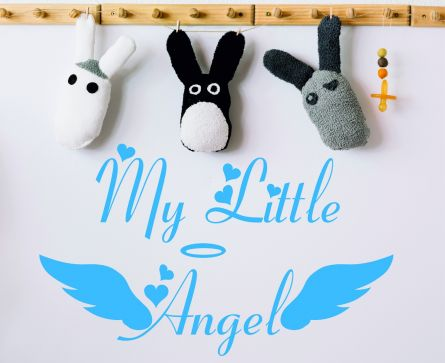 My Little Angel Nursery Baby Shower Boys Girls Bedroom Décor