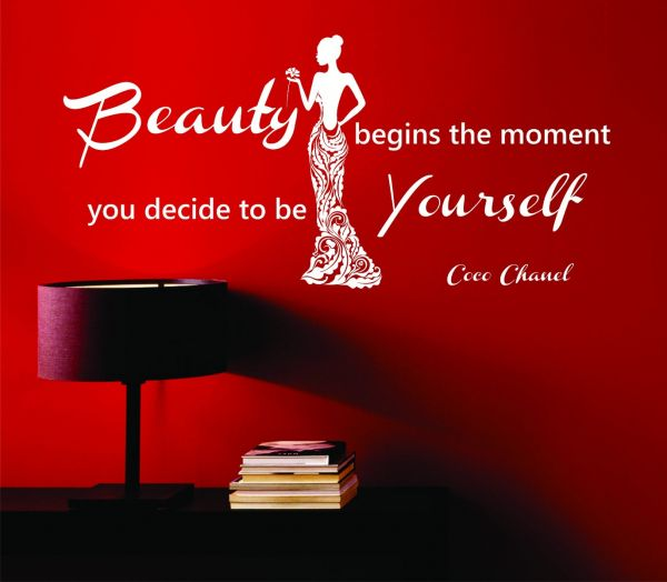 """Coco Chanel Quote """"Beauty begins the moment you decide to be Yourself"""""""