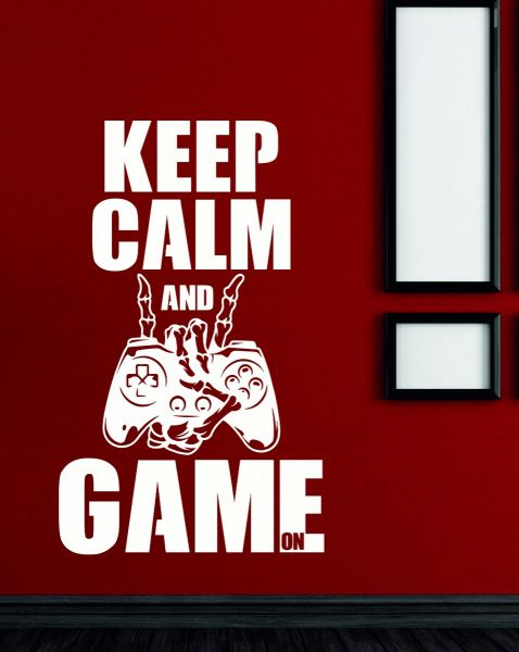 Keep Calm and Game On Ps Controller